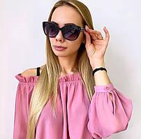 Женские черно-белые солнцезащитные очки