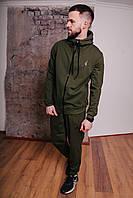 Спортивный костюм мужской хаки Nike Jordan, натуральный хлопок + полиэстер   Спортивный костюм весенний