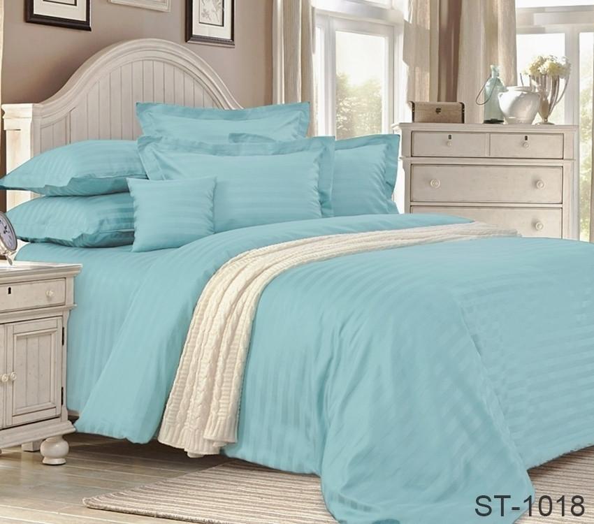 Двуспальный комплект постельного белья страйп-сатин Турция ST-1018