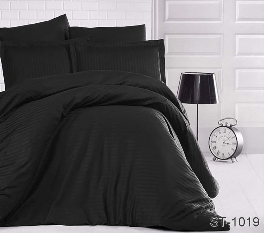 Двуспальный комплект постельного белья страйп-сатин Турция ST-1019