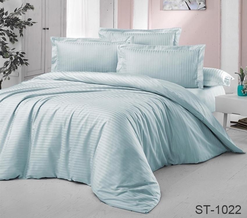 Двуспальный комплект постельного белья страйп-сатин Турция ST-1022