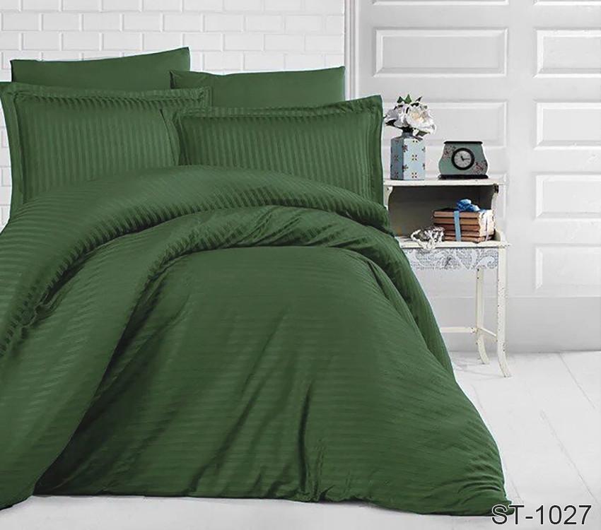 Двуспальный комплект постельного белья страйп-сатин Турция ST-1027