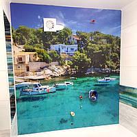 Панно на стену из стекла с фотопечатью для ванной