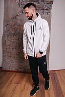 Спортивный костюм мужской белый Nike Jordan, натуральный хлопок + полиэстер   Спортивный костюм весенний