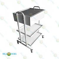 Стол для инструментов (медицинский инструментальный, манипуляционный процедурный) передвижной СМ-3-2М MEDNOVA