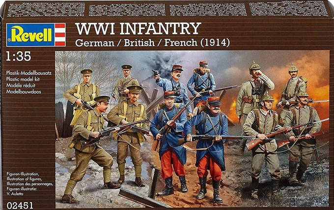 Revell 1/35 WWI Infantry, фото 2