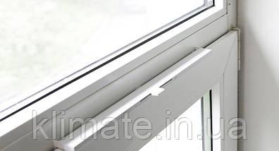 Приточный,оконный клапан New-Air /Коричневый/ ( на створчатое окно), фото 3
