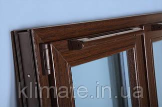 Оконный, приточный проветриватель (на глухое окно ) ПО-400 коричневый, фото 2
