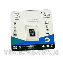 Карта пам'яті TG 16 GB class 10, мікро сд пам'ять для телефону, фотоапарата, sd карта