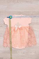 Платье-боди для для девочки рост 56-80 (1-18 месяцев)