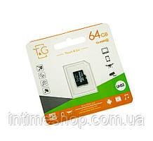 Карта пам'яті для телефону micro sd TG 64 GB class 10, карта пам'яті для фотоапарата, сд карта