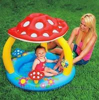 Детский надувной бассейн «Грибочек» Intex 57407, 102х89 см