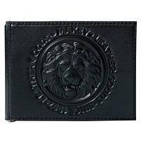 Держатель для денег кожаный мужской Lion