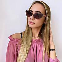 Жіночі пудрові сонцезахисні окуляри, фото 1