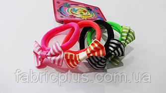 Резинки для волос с бантиком 4 см цвет в ассортименте (4 шт)