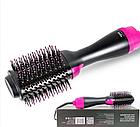ОПТ Фен щетка One Step Hair Dryer & Styler Cтайлер для укладки волос 3в1 Расческа с феном черная, фото 5