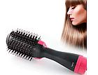 ОПТ Фен щетка One Step Hair Dryer & Styler Cтайлер для укладки волос 3в1 Расческа с феном черная, фото 3