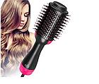 ОПТ Фен щетка One Step Hair Dryer & Styler Cтайлер для укладки волос 3в1 Расческа с феном черная, фото 4