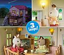Sylvanian Families Загородный дом с красной крышей 2 фигурки со светом и мебелью 5383 Calico Critters CC1797, фото 5
