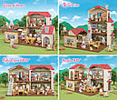 Sylvanian Families Загородный дом с красной крышей 2 фигурки со светом и мебелью 5383 Calico Critters CC1797, фото 4