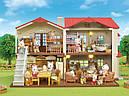 Sylvanian Families Загородный дом с красной крышей 2 фигурки со светом и мебелью 5383 Calico Critters CC1797, фото 7