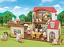 Sylvanian Families Загородный дом с красной крышей 2 фигурки со светом и мебелью 5383 Calico Critters CC1797, фото 8