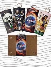 Чехлы для ключей, ключницы из экокожи с принтами или логотипов под заказ