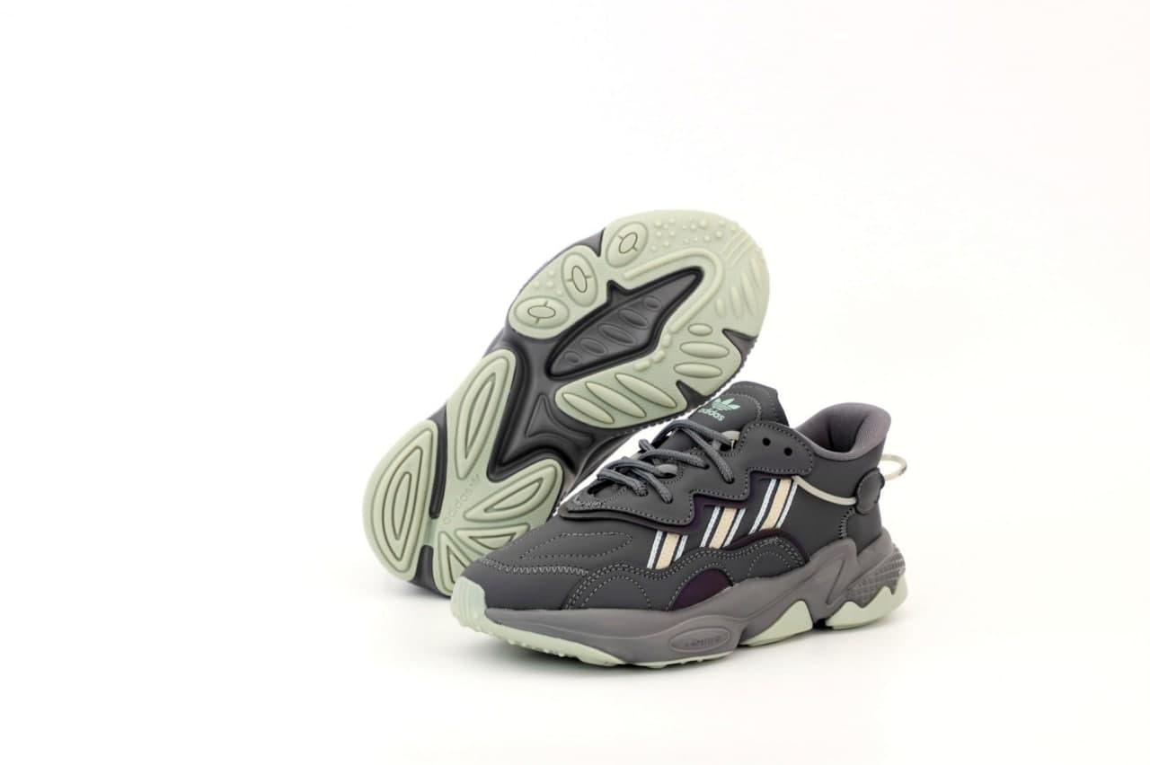 Жіночі кросівки Adidas Ozwееgо (сірі) К12471 спортивна весняна взуття на піні