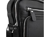 Барсетка мужская кожаная через плечо Tiding Bag M2432 черная, фото 5