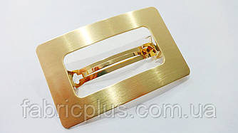 Заколка-автомат для волос 8 см золото