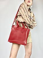 Красная женская большая сумка на работу SD20x5, фото 1