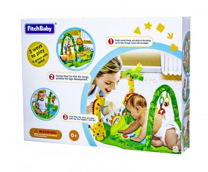 """Дитячий розвиваючий ігровий килимок для немовляти Fitch Baby """"Тропічний ліс"""" (8502)"""