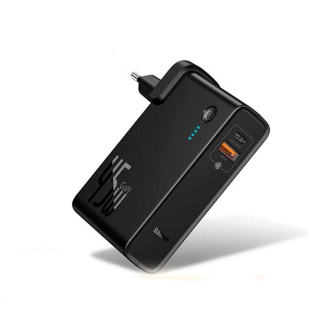 Зарядний пристрій 2 в 1, зовнішній акумулятор 10000 мА / год
