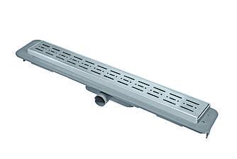 Трап сантехнічний NOVA з решіткою та рамкою із нержавіючої сталі, ширина 70мм, довжина 1000мм, боковий вихід