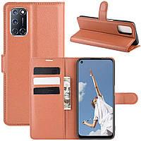 Чехол-книжка Litchie Wallet для Oppo A92 / A72 / A52 Brown
