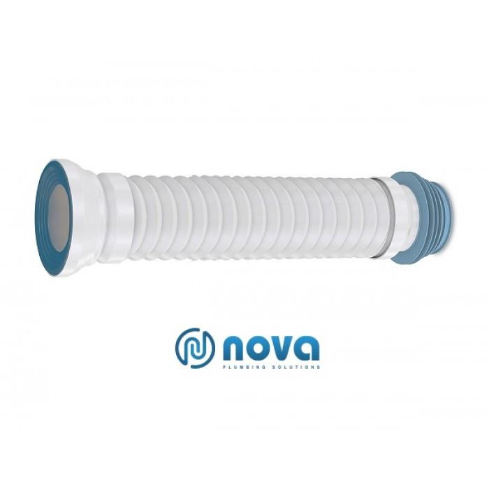 Гнучкий труба для унітаза NOVA зі зворотнім клапаном 350мм 7172N (уп 12шт)