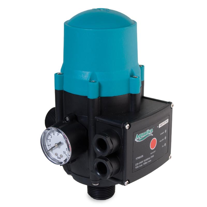 """Aquatica контроллер тиску електронний 1.1кВт 1"""" рег тиску вкл 1.5-3.0 bar Katran 779735"""