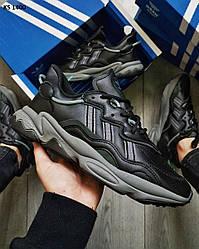 Мужские кроссовки Adidas OZWEEGO черные / мужские кроссовки Адидас Озвего (Топ реплика ААА+)