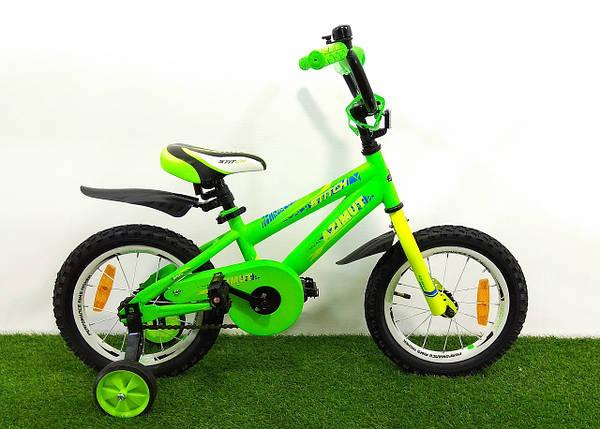 "Дитячий велосипед Azimut Stitch 14"", фото 2"
