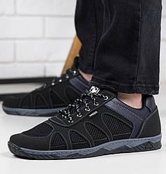 Кросівки чоловічі сітка чорні 40,41р