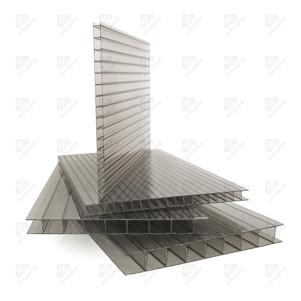 Сотовый поликарбонат Киви, бронзовый 42%, лист 2.1 х 12 м, 8 мм
