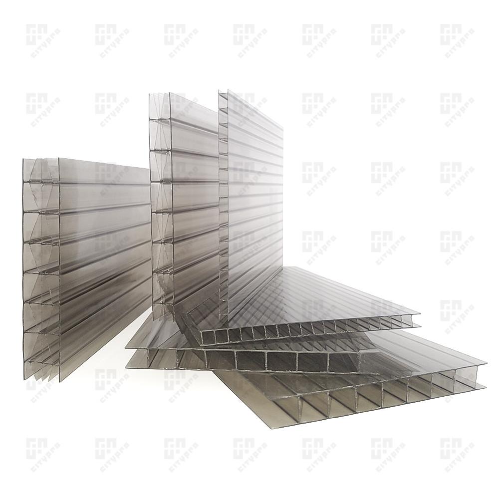 Сотовый поликарбонат Колибри, бронза 42%, лист 2.1 х 12 м, 8 мм