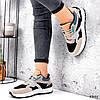 Кроссовки женские Boteli черные + беж + оранжевый + голубой 3345, фото 7