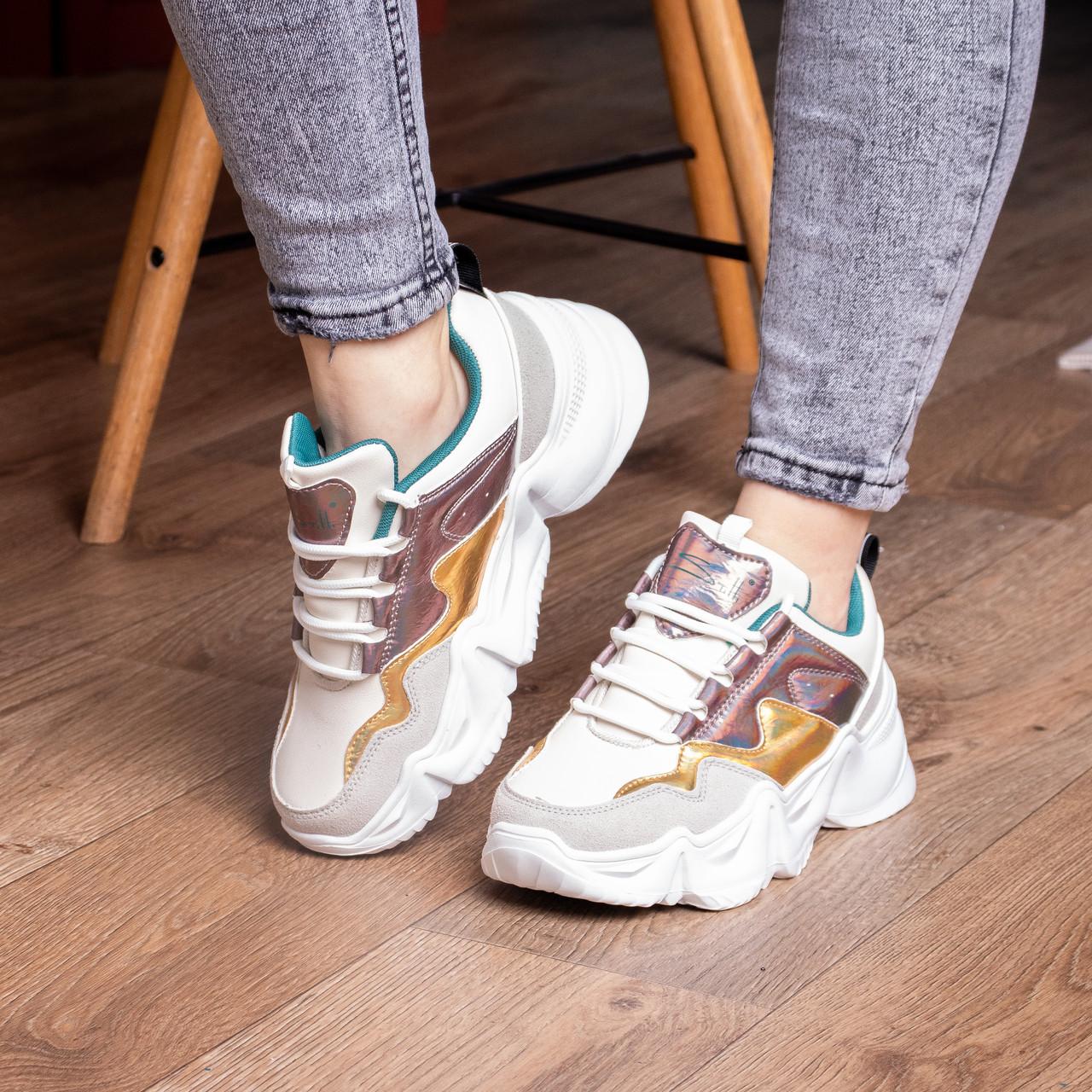Кросівки жіночі Fashion Frasier 2126 36 розмір, 23,5 см Бежевий