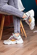 Кроссовки женские Fashion Frasier 2126 36 размер 23,5 см Бежевый, фото 3
