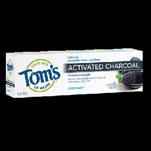 Tom's of Maine  Activated Charcoal паста с древесным углем, без фтора и SLS , мятный вкус 133 гр