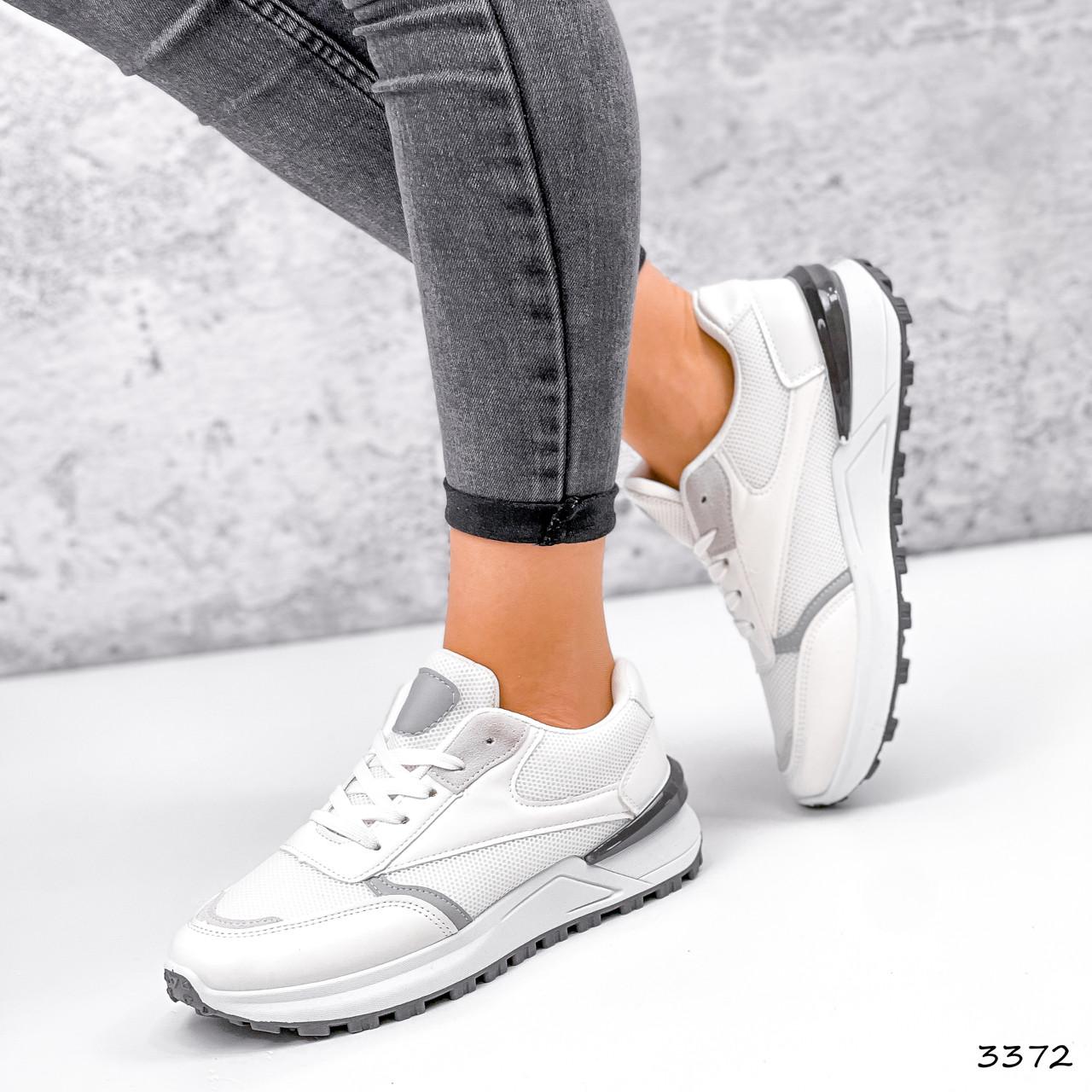 Кросівки жіночі Mela білі + сірі 3372