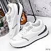 Кросівки жіночі Mela білі + сірі 3372, фото 2