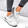 Кросівки жіночі Mela білі + сірі 3372, фото 5