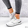 Кросівки жіночі Mela білі + сірі 3372, фото 6